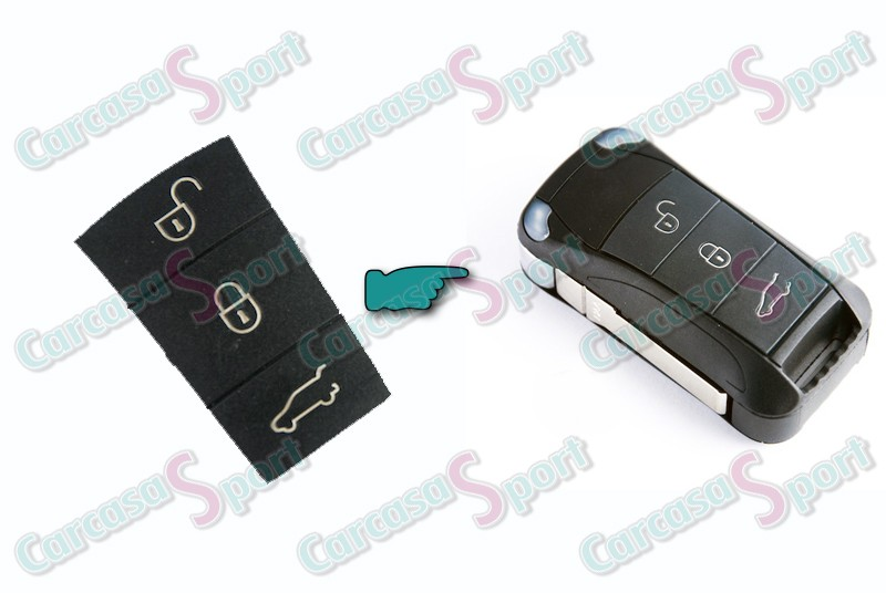 Botón de goma para llave Porsche 3B (4894708)