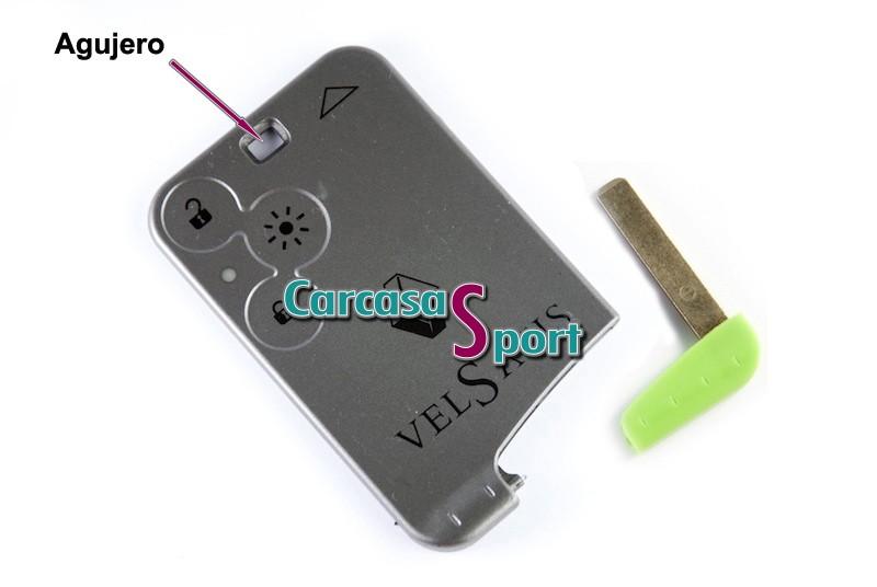 Carcasa para llave tarjeta Renault VelSatis (2129246)