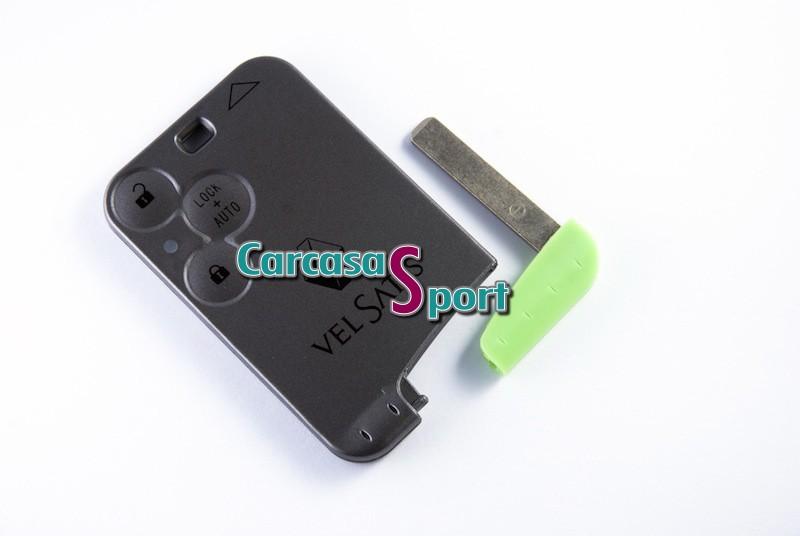 Carcasa para llave tarjeta Renault VelSatis (605738)