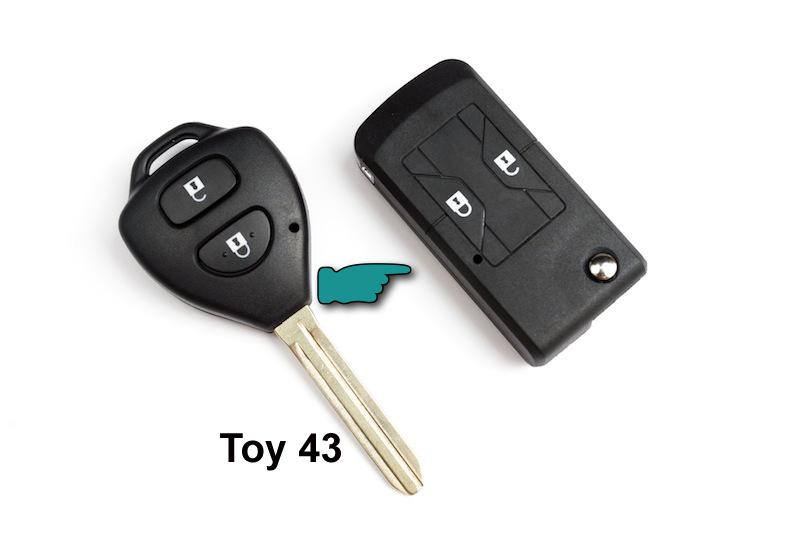 Carcasa para Toyota abatible Toy 43 (214386)